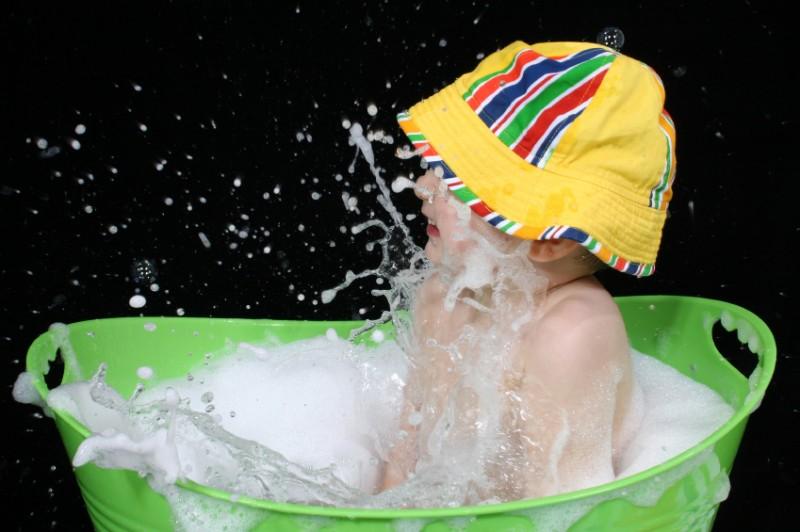 Babyeimer: Badeeimer für Babys