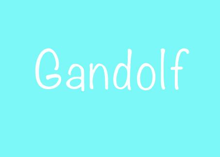 Herkunft und Bedeutung des Vornamen Gandolf