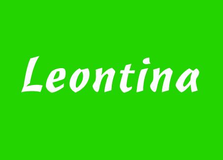 Vorname Leontina