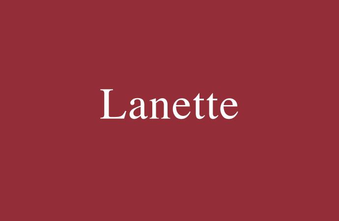 Der Vorname Lanette
