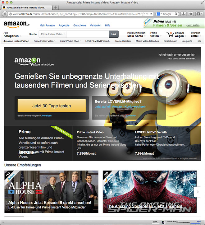 Amazon Prime Instant Video – so funktioniert's