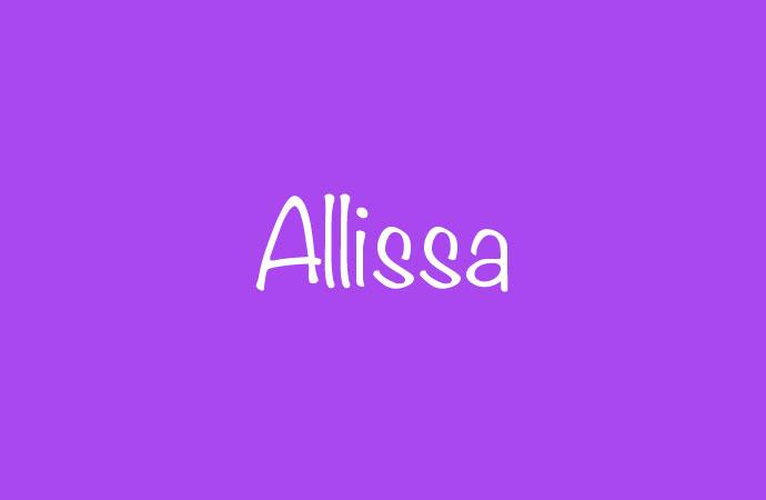 Herkunft und Bedeutung des Namens Allissa