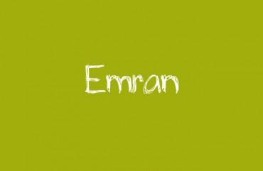 Der Vorname Emran